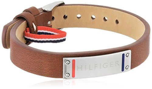 Tommy Hilfiger venden Herren-pulsera para hombre Casual cuero y acero inoxidable 22.8...
