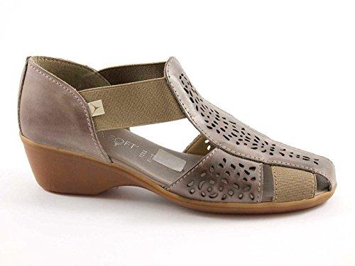 CINZIA SOFT 8050ZK taupe scarpe sandali donna comfort passeggio 41