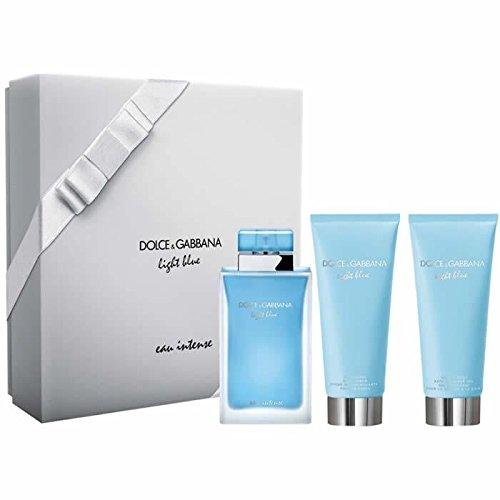 Dolce & Gabbana Light Blue Eau Intense EDP 100 ml + SG 100 ml + BC 100 ml (woman) (Set Blue Light Dolce Gabbana)