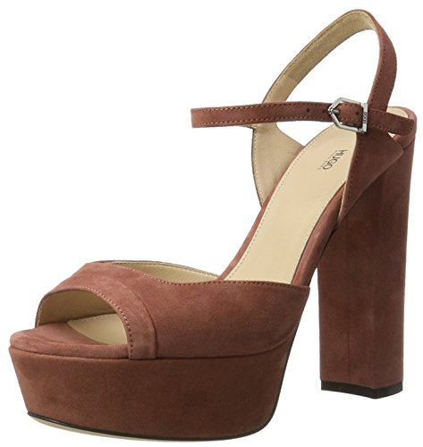 Hugo Dale 10199302 01, Sandales Plateau Femme Marron (Open Brown)