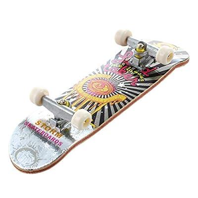 HT00640 Holzgriffbrett Finger Skateboard + Schrauben im Zufallsmuster