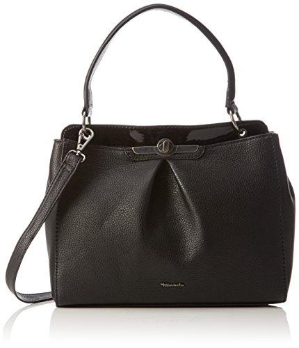 Tamaris Damen Lenita Handbag Henkeltaschen, Schwarz (Black Comb 098), 27x30x9 cm