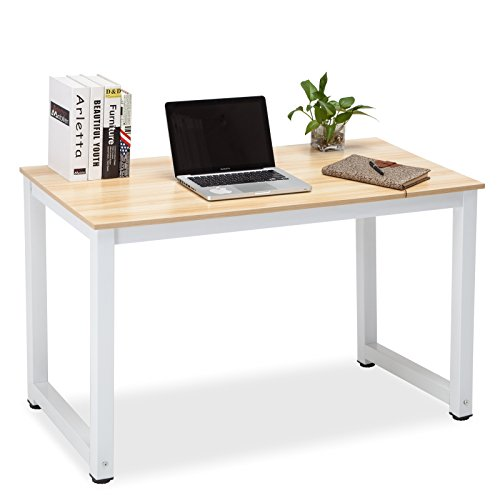 UEnjoy Computer Desk PC Laptop Table Workstation Study Home Office Furniture White