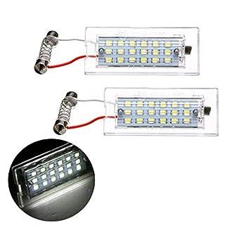VIGORFLYRUN PARTS LTD 2PCS Auto LED Kennzeichenbeleuchtung Nummernschilder Licht für E53 X5 1999-2006 / E83 X3 03-10, 12V 18LED CANBUS Error Free Xenon Weiße Licht