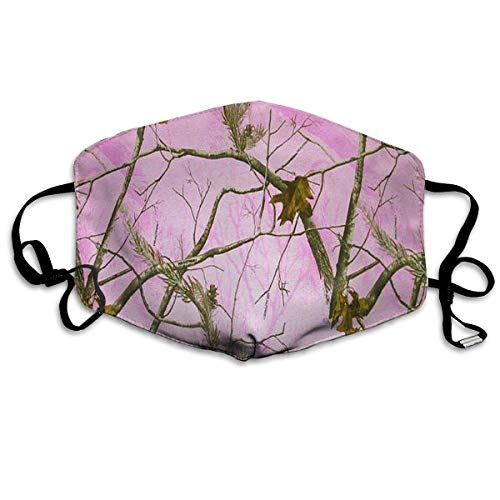 Masken,Masken für Erwachsene,Pink Realtree Camo Washable and Reusable Cleaning Mask,For Allergens,Exhaust Gas,Running,Cycling,Outdoor Activities