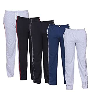 TeesTadka Gents Cotton Track Pants Cum Pyjama for Men Value Mens Combo Offers Pack of 5 Track Pants Gym Pant
