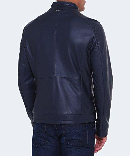 BOSS Hommes Veste en cuir de Nartimo Bleu Foncé Bleu Foncé