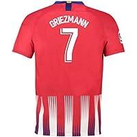 2018-2019 Atletico Madrid Home Nike Football Soccer T-Shirt Camiseta (Antoine Griezmann 7) - Kids