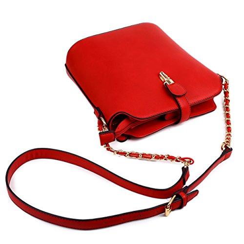 Miss Lulu - Hobo borse donna Red
