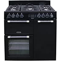 Leisure ck90°F232Freestanding Gas Hob Black–Kitchen (Independent Kitchen, Black, Buttons, Rotary, Front, Electronic, LED)