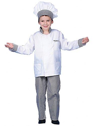 Dress up America Kochkostüm - für Jungen in Deluxe-Ausführung - Größe S 4-6 Jahre (Deluxe Chef Hut)