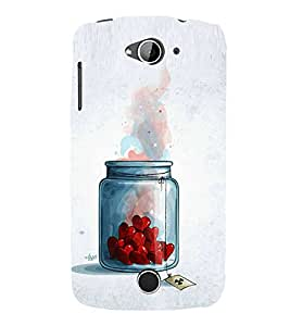 Hearts in Jar 3D Hard Polycarbonate Designer Back Case Cover for Acer Liquid Zade Z530 :: Acer Liquid Zade Z530S