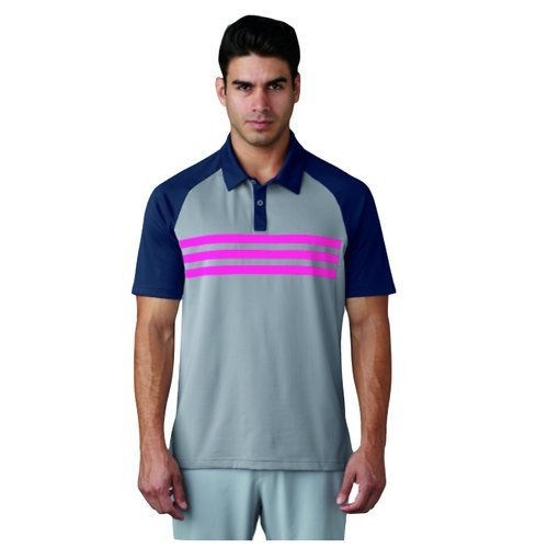 Herren Climacool Polo Golf Shirts (adidas Golf Climacool 3 Stripes Competition Polo Shirt, Herren XS grau)