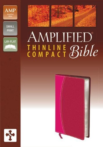 The Amplified Bible: Amplified Italian Duo-Tone, Magenta/Razzleberry, Thinline Compact, Ribbon Marker