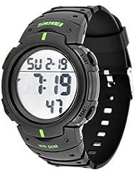 amazon co uk waterproof stopwatches sports technology sports dsstyles military waterproof digital large display men casual sport watch green