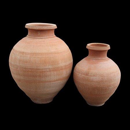 Fait à la main pot en terre cuite traditionnel Cretan'Ispaniko 75 cm x 60 cm