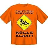 Karneval-Kostüm - Caution Drunk Crossing - Kölle Alaaf! T-Shirt - Größe XXL - in orange : )