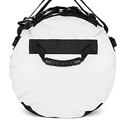 The-Friendly-Swede-Reisetasche-Duffle-Bag-Duffel-Bag-Rucksack-30L60L90L-Sporttasche-Travel-Bag-Rucksackfunktion-SANDHAMN-Wei-Kronenprint-90L