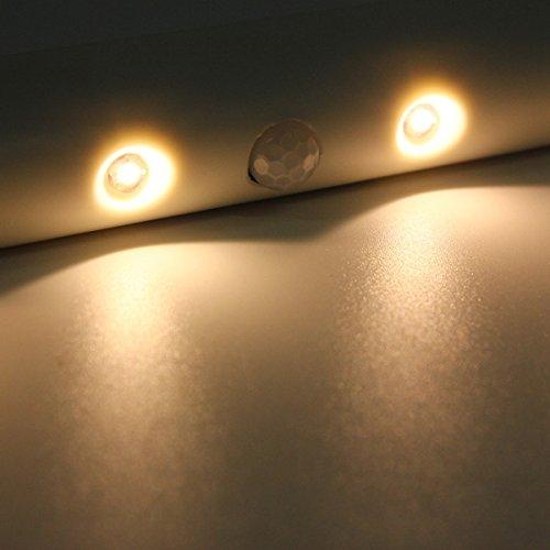 VEWARD 6 LED batteriebetriebenes drahtloses PIR-Bewegungssensor-Schubladen-Nachtlicht (Color : Color Warm White)