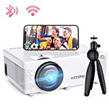 Mini Beamer, VicTsing WiFi Beamer Full HD 4000 Lumen Bluetooth LED Projektor, 1080P HD 170 '' Display 50000 Stunden, Wireless Video Beamer Kompatibel mit Smartphone, TV Stick, HDMI, VGA, SD, AV, USB