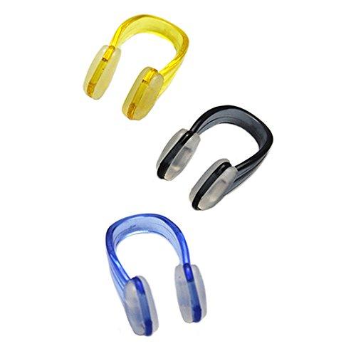 Schwimmen Nasenklammer - TOOGOO(R) 3 Stk Schwimmen Nasenklammer Tauchen Beschuetzer Kunststoff Nasenklammer