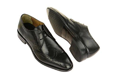Gordon & Bros Herrenschuhe Mirco A500409 Klassischer Rahmengenähter Schnürhalbschuh mit Derbyschnürung IM Brogue Stil für Anzug, Business und Freizeit Black