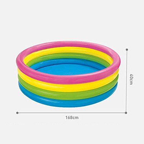 Runde Kinder Aufblasbare Schwimmbecken Familie Ocean Ball Pool Verdickung Pool Pool Adult Bad ( größe : 40*168cm )