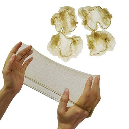Scopri offerta per 50 retine per capelli invisibili (biondo) elastiche per chignon per danza, ginnastica, equitazione, chef, infermiere