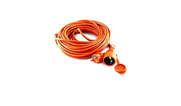 006/C/âble dalimentation dextension Rallonge de jardin Orange ext/érieur jusqu/à 50/m IP44/10/m /16998 mkk/