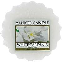 Yankee Candle White Gardenia Tart da Fondere, Cera, Bianco, 2 x 5.7 x 5.5 cm