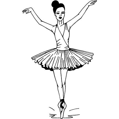 Azeeda A7 'Ballerina' Timbro di Gomma Non Montato (RS00001235)