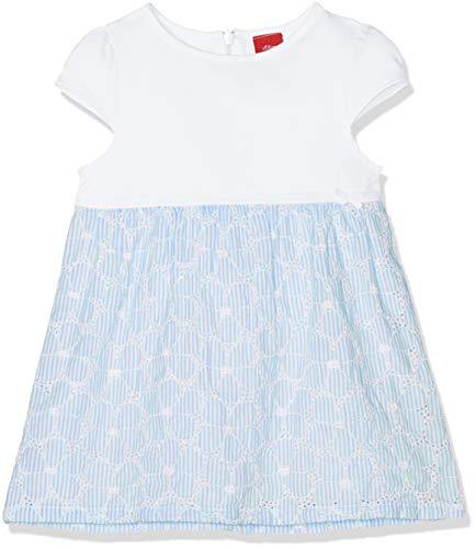 s.Oliver Baby-Mädchen 65.903.82.5341 Kleid, Blau (Blue AOP 53a1), Herstellergröße: 92 - Sommer Bestickt Rock