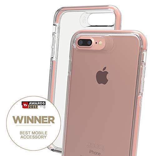 """Gear4 Piccadilly 14 cm (5.5"""") Funda Oro Rosado, Transparente - Fundas para teléfonos móviles (Funda, Apple, iPhone 7 Plus, 14 cm (5.5""""), Oro Rosado, T"""