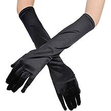 3b6a226da712bf TIREOW Damen Satin Lange Handschuhe Oper Hochzeit Braut Abend Party Prom Handschuhe  Farbe 10