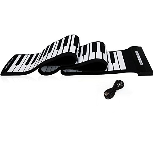 Andoer USB 88 Keys MIDI Roll up Electronic Piano Keyboard Silicone Flexible Professional - Flexible Portable Keyboard