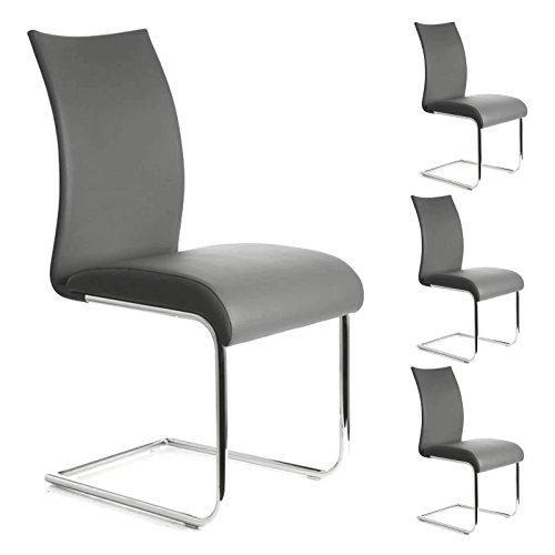 Lot de 4 chaises ALADINO, gris