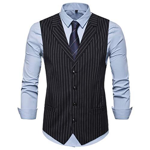 Männer Business Anzug Weste Herren Anzugweste ärmellose Einreiher Hochzeit Jacke Mantel Mode Casual Tops Coat CICIYONER