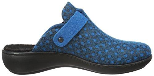 Romika Damen Ibiza Home 317 Pantoffeln Blau (blau 500)