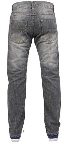 Newfacelook Hommes SLIM FIT Jeans Pantalons Designer Fashion Denim Pant LE NOIR