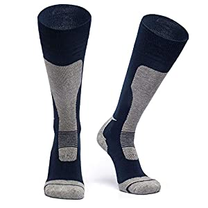 Supower Wool Ski Socks,Extra Warm Knee High Performance Snow Skiing/Snowboard Socks in Outdoor,Fit for Men