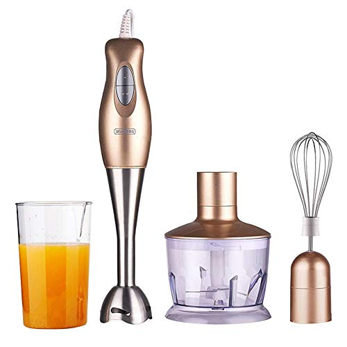 Powerful Premium Blender - Hand Blender Stick,Whisk and Food Processor, Mini Chopper, Blending Beaker, Stainless Steel, BPA Free (Und Chopper Blender)