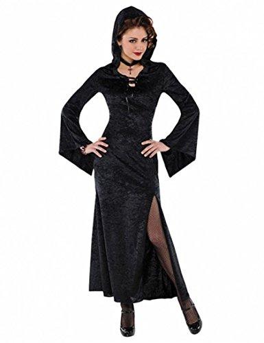 Magierin-Hexen-Vampir Kostüm- Damen Größe 40/42 (Ladies Fancy Dress Kostüme Größe 20)