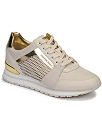 2da7ec3ff MICHAEL KORS 43R9BIFS1L LT Cream Zapatos Mujer Sneakers Billie Trainer  Lasered