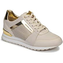 8c97259a418 MICHAEL KORS 43R9BIFS1L LT Cream Zapatos Mujer Sneakers Billie Trainer  Lasered
