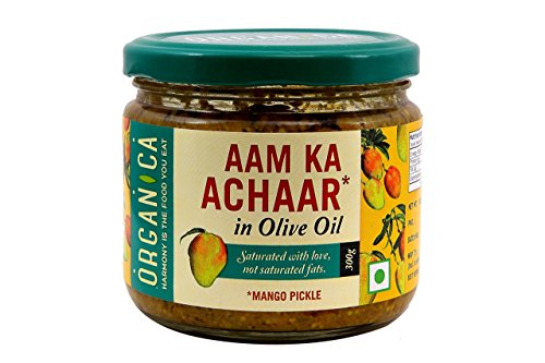 Organica Olive Oil Mango Pickle, 300g