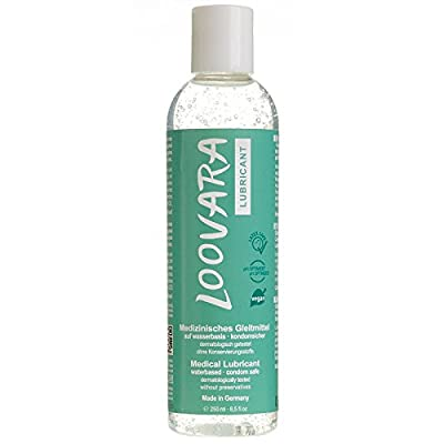 LOOVARA INTIMATE Premium Water-Based Lubricant - 250 ml - condom safe, vegan lubricant, free from colouring agents and preservatives