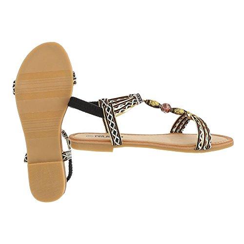 Ital-Design - Scarpe con cinturino alla caviglia Donna Schwarz Multi