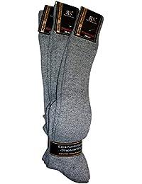 online retailer c5723 26568 RS 3 Paar Norweger Kniestrümpfe Frotteesohle Wolle Grau und Anthrazit