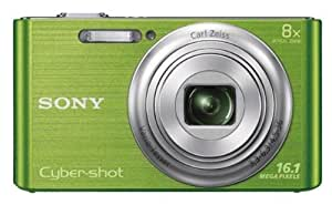 Sony Cyber-shot DSC-W730 16.1MP Point-and-Shoot Digital Camera (Green) with Camera Case