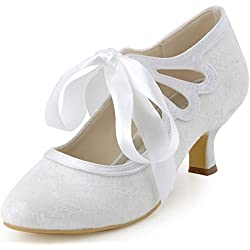 Zapatos de Boda con lazo en color blanco - varios tonos a elegir
